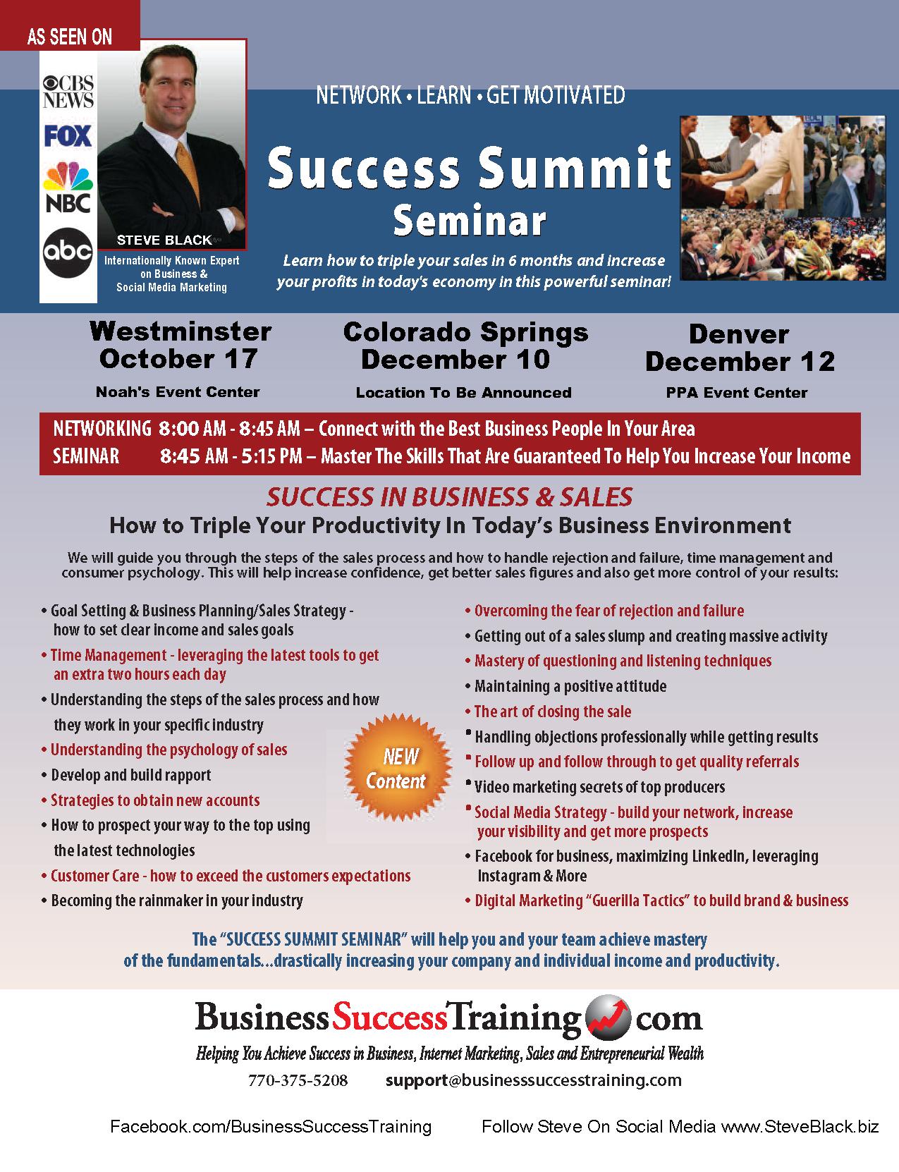 RSVP Success Summit Seminar