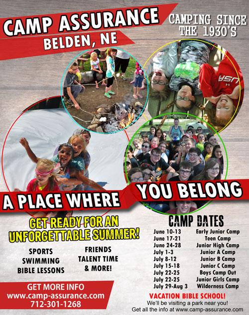 camp assurance summer flyer