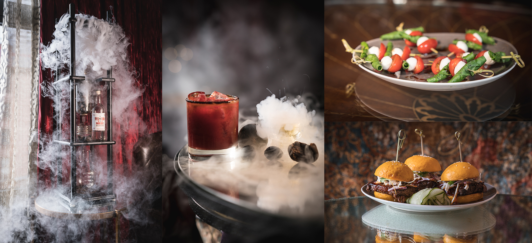 Group of Halloween offerings at The Tuck Room NYC