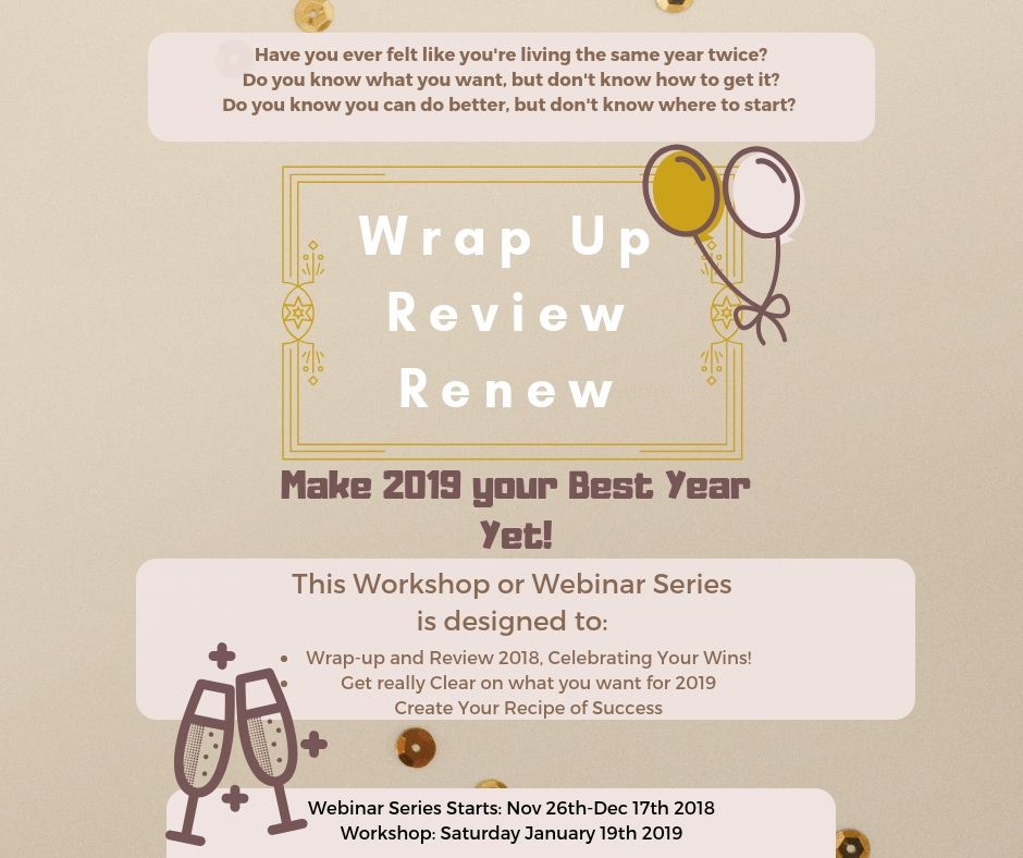 Flyer for Workshop- Wrap Up, Review, Renew