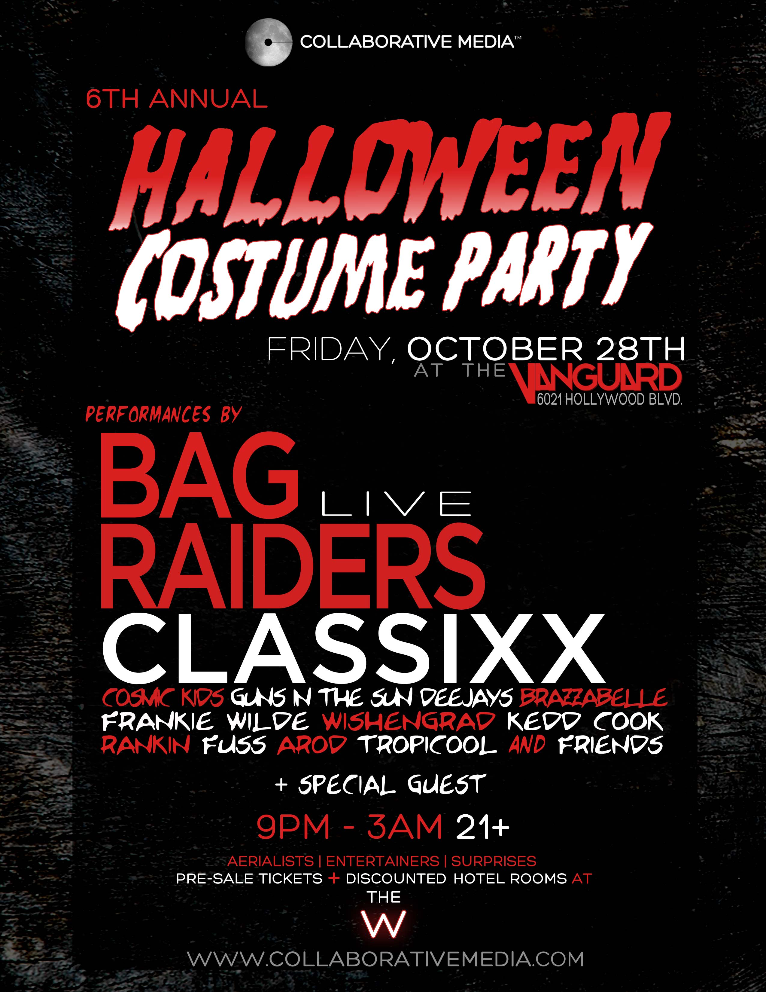 Collaborative Media 6th Annual Halloween feat Bag Raiders, Classixx, Cosmic Kids & friends 10.28.11