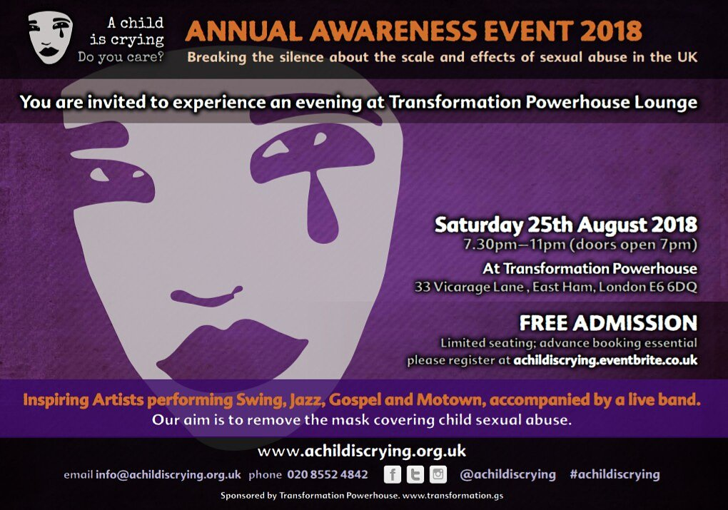 A Child Is Crying 4th Annual Awareness Event Flyer