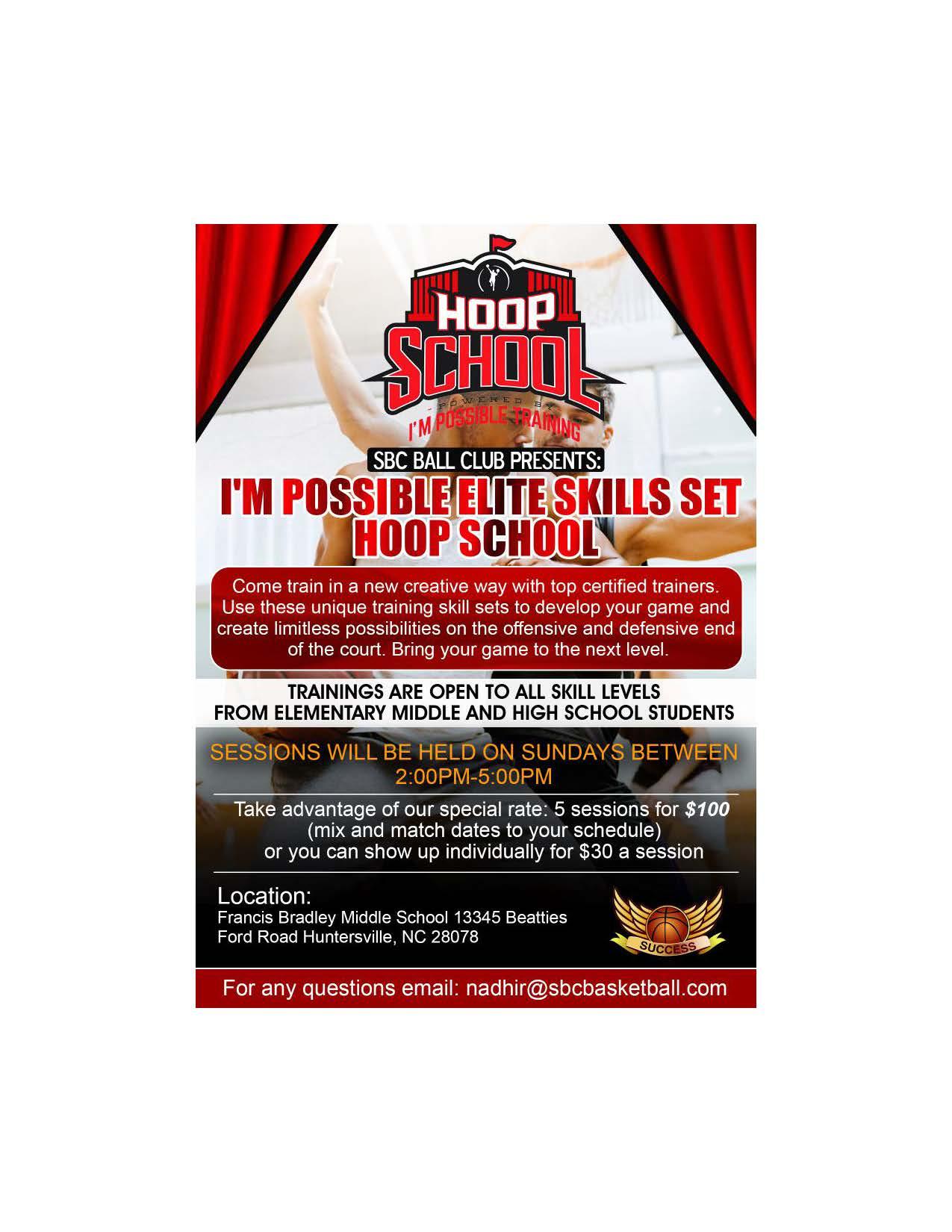 hoop school flyer