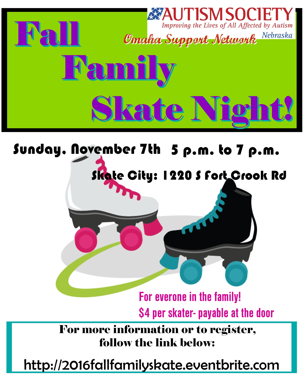 Roller skating omaha - Asn Omaha Family Skate Night Flyer