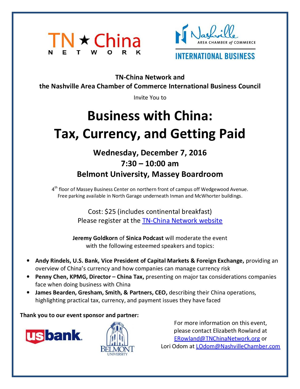 Business with China event flier