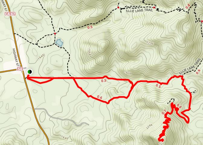 Iron Mountain Trail Layout