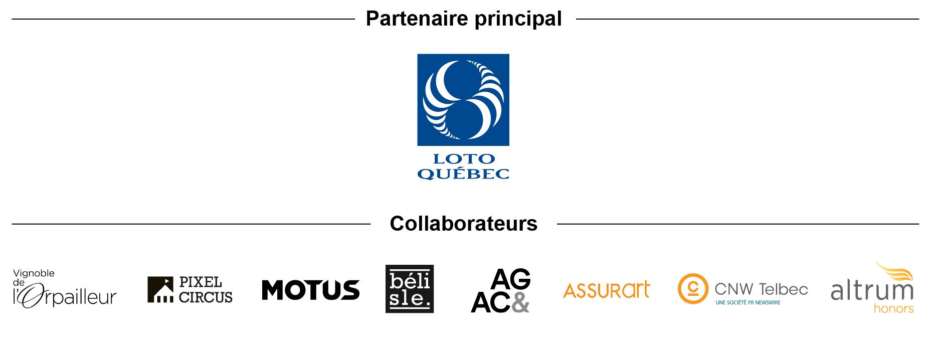 Logos des partenaires du Rallye des galeries 2018