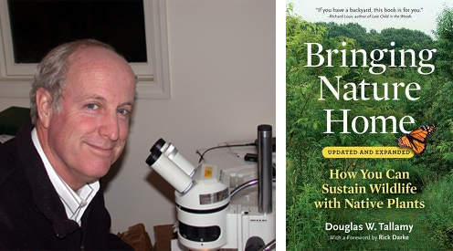 Doug Tallamy and cover of Bringing Nature Home
