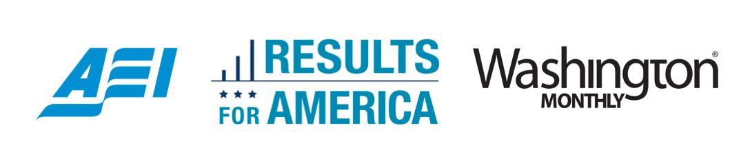 AEI - RFA - Washington Monthly Logos