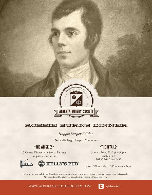 Robbie Burns Dinner - Kelly's Pub - 26 Jan