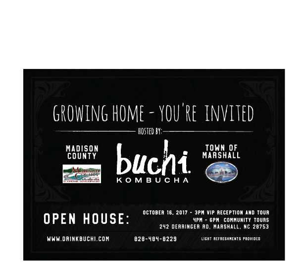 Open House Invite for Buchi Kombucha