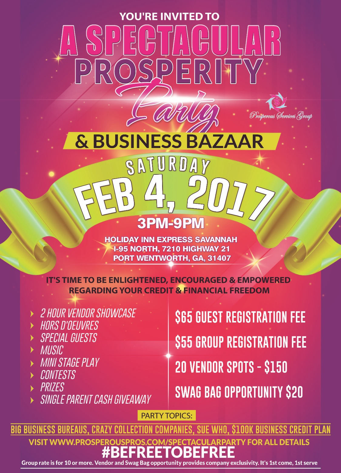 A Spectacular Prosperity Party & Business Bazaar