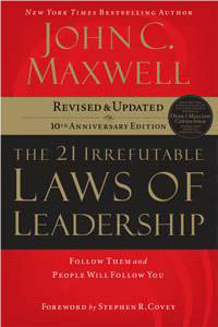 Book Cover of the 21 Irrefutable Laws of Leadership