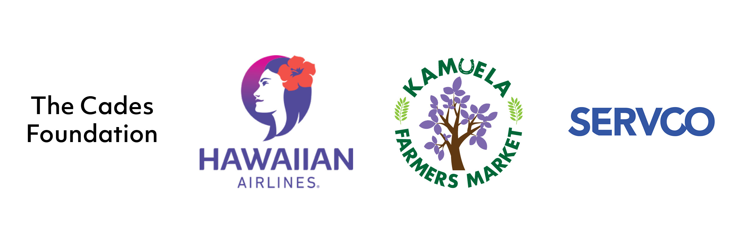 Sponsored by The Cades Foundation, Hawaiian Airlines, Kamuela Farmers Market, & Servco