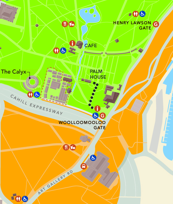 Map to Palm House