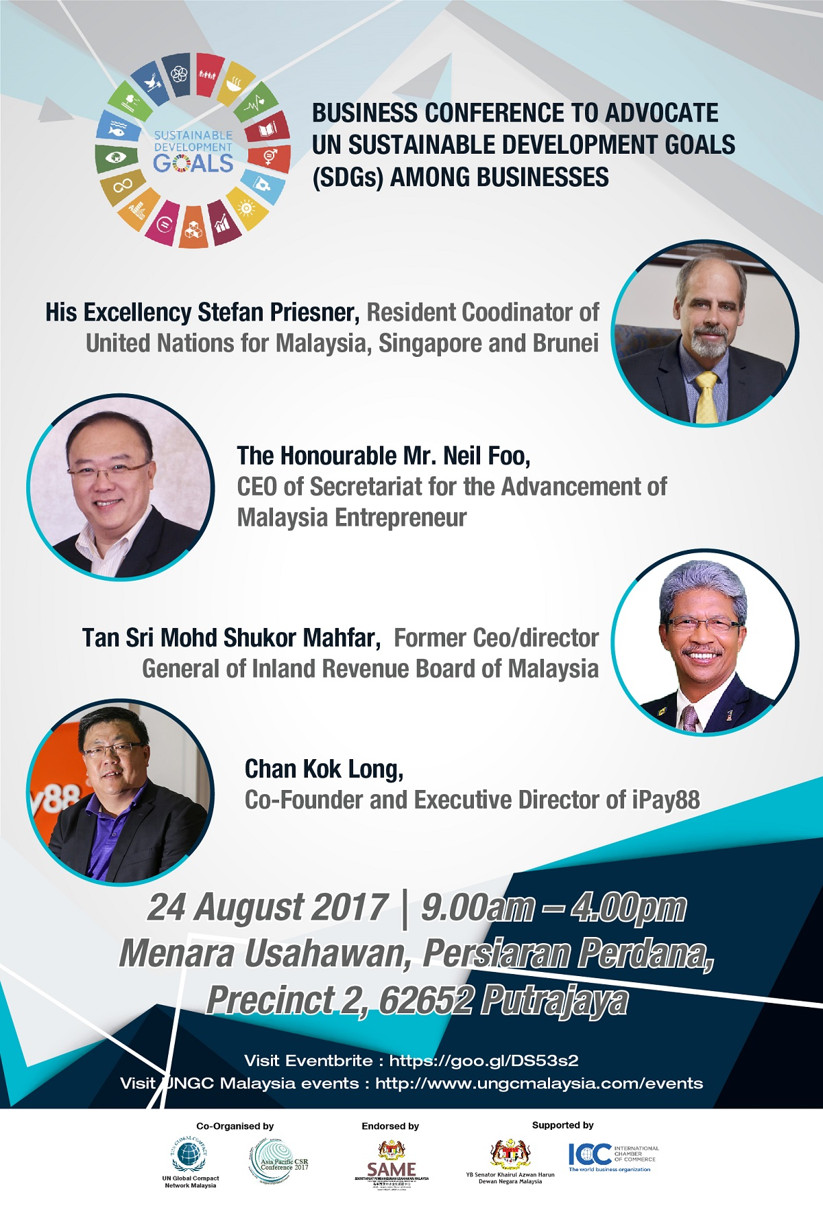 BUSINESS CONFERENCE TO ADVOCATE UN SUSTAINABLE DEVELOPMENT GOALS (SDGs) AMONG BUSINESSES Flyer