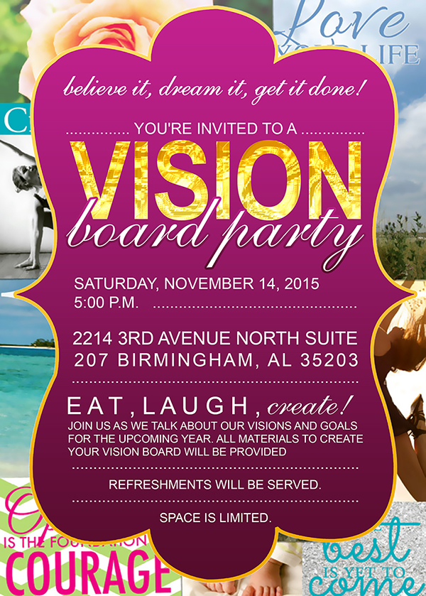 Vision Board Party Invitation Choice Image invitation templates
