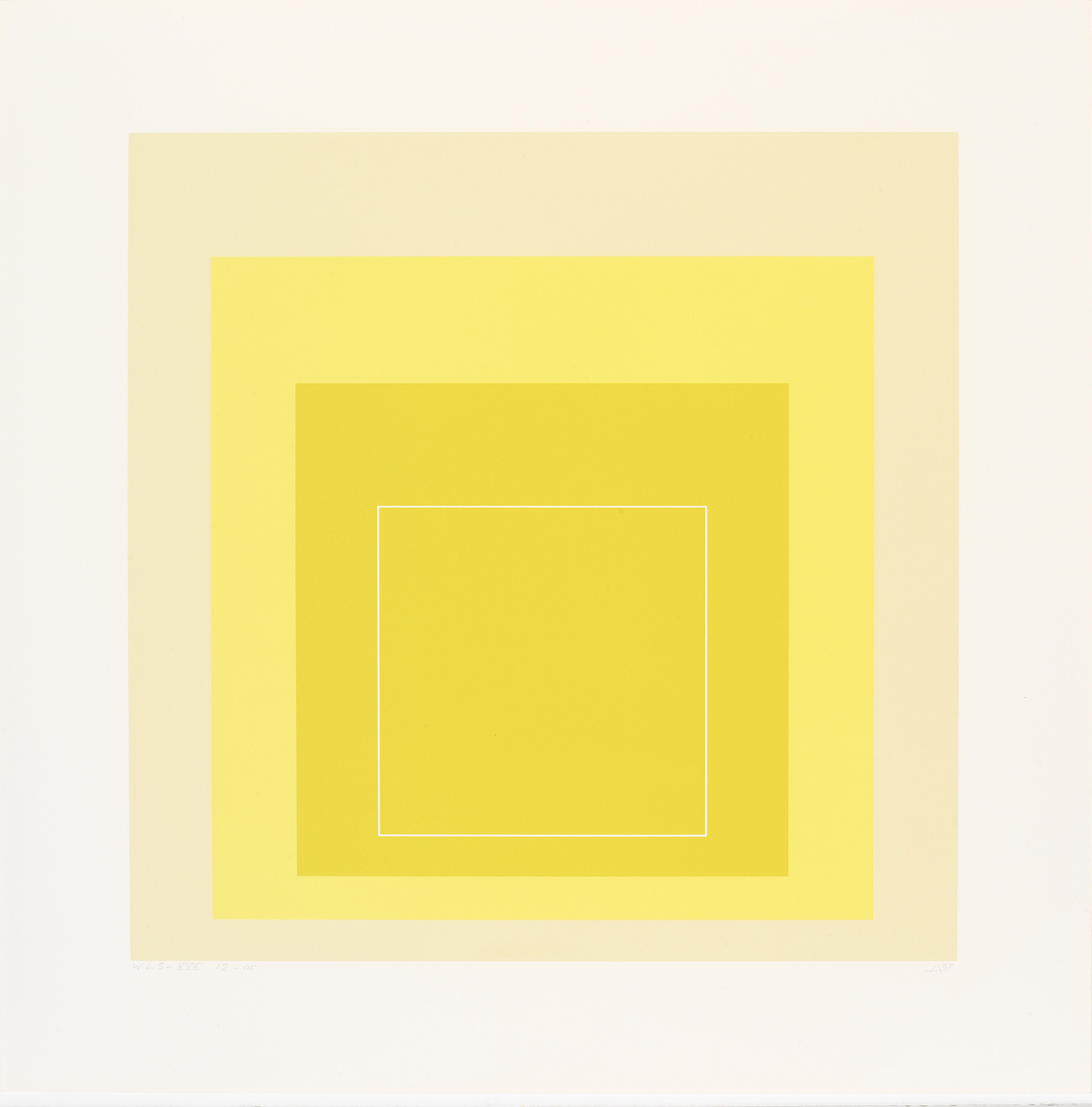 Josef Albers, WLS [White Line Square] XVII, 1967 (available during the silent auction)