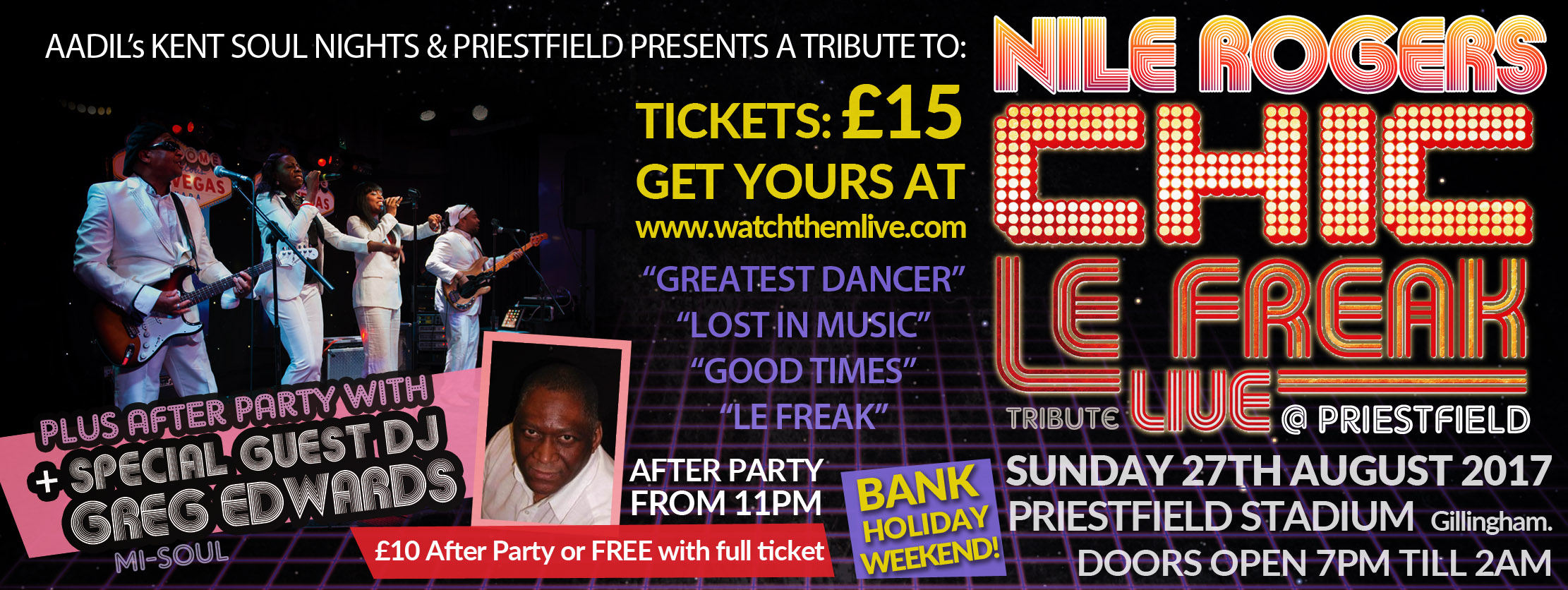 Chic Nile Rogers Tribute in Kent