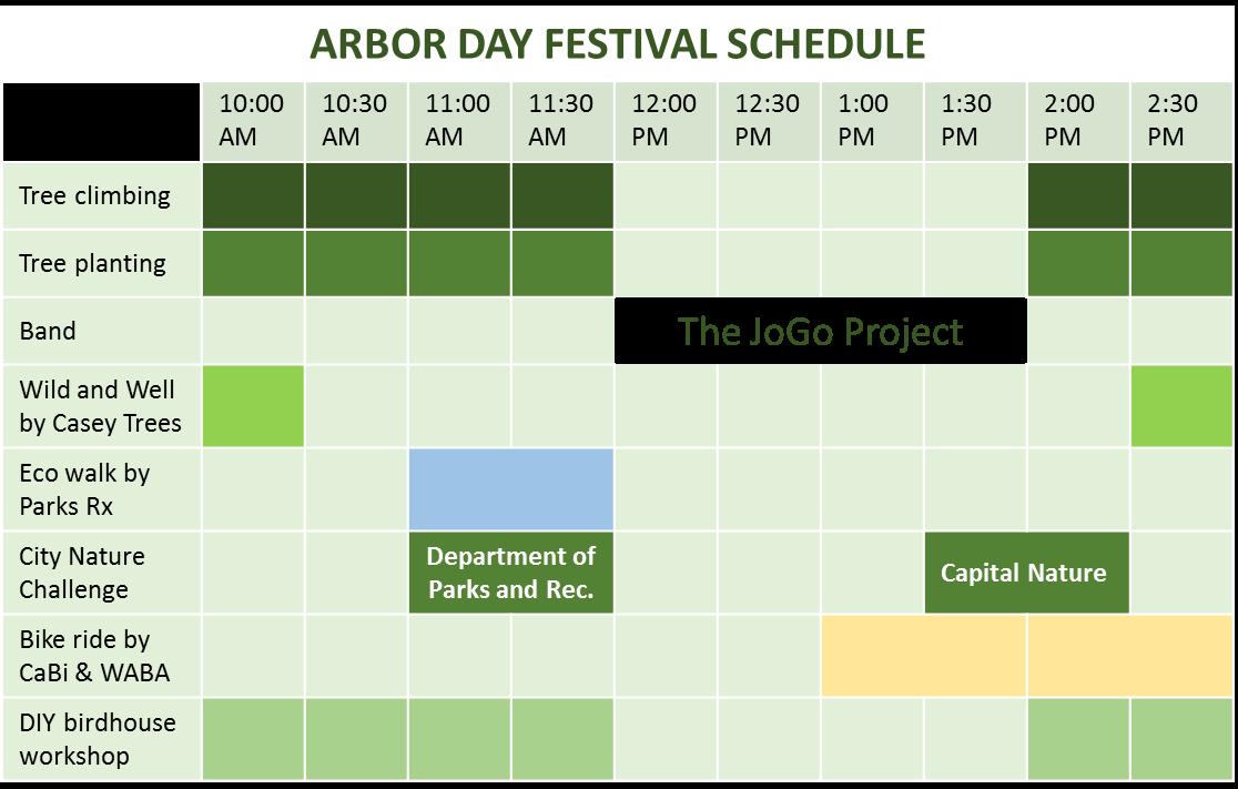 Arbor Day Festival Schedule of Activities