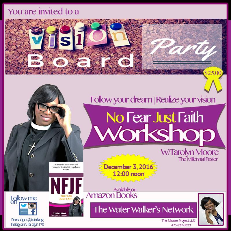 No Fear Just Faith Workshop