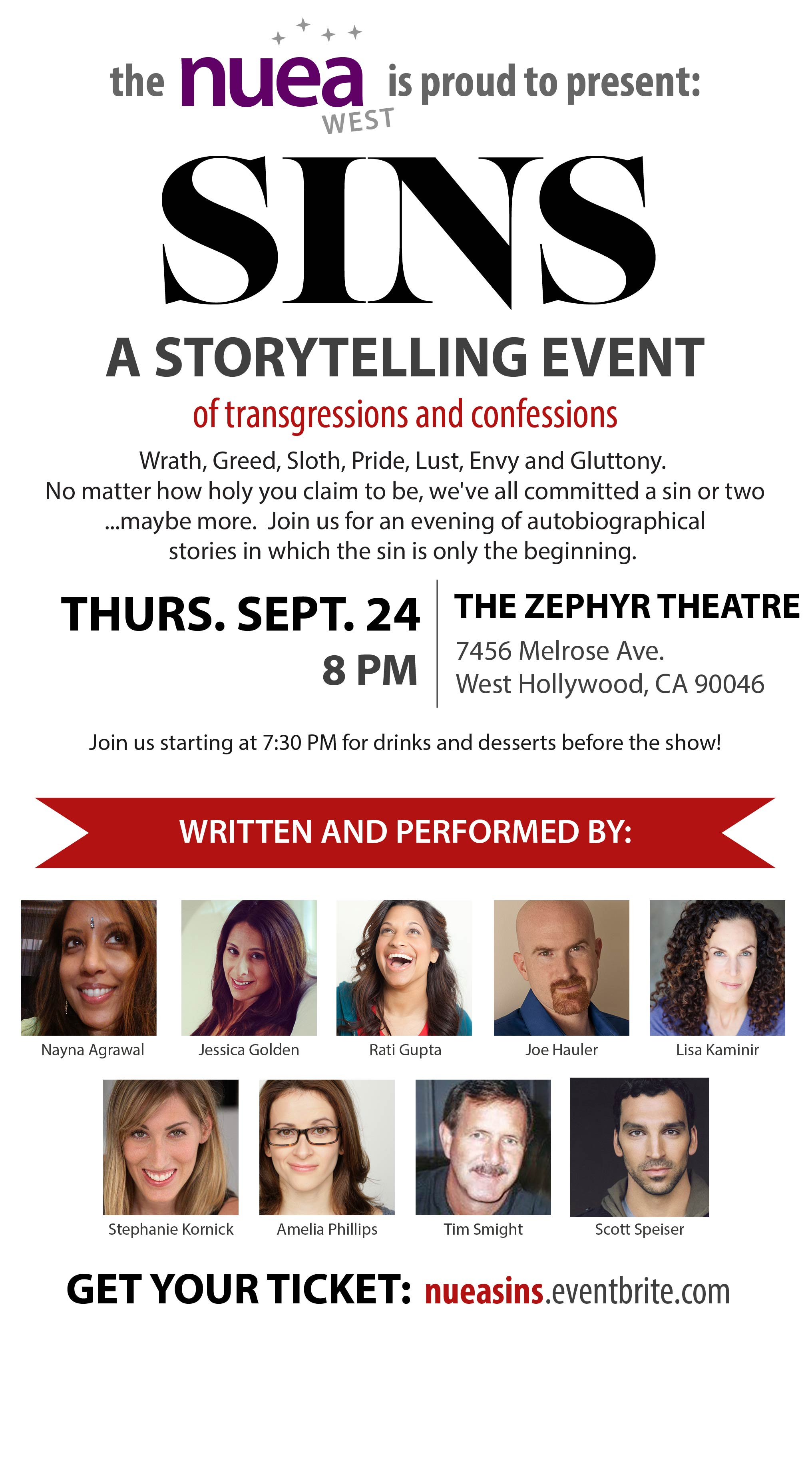 Sins: A Storytelling Event