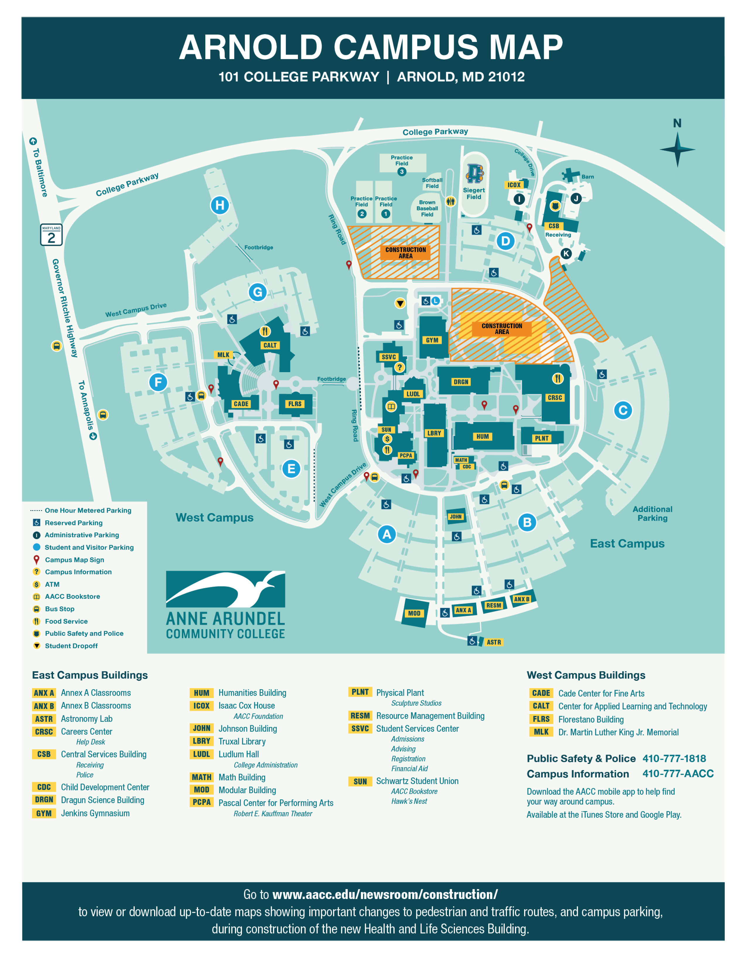 AACC Campus Map