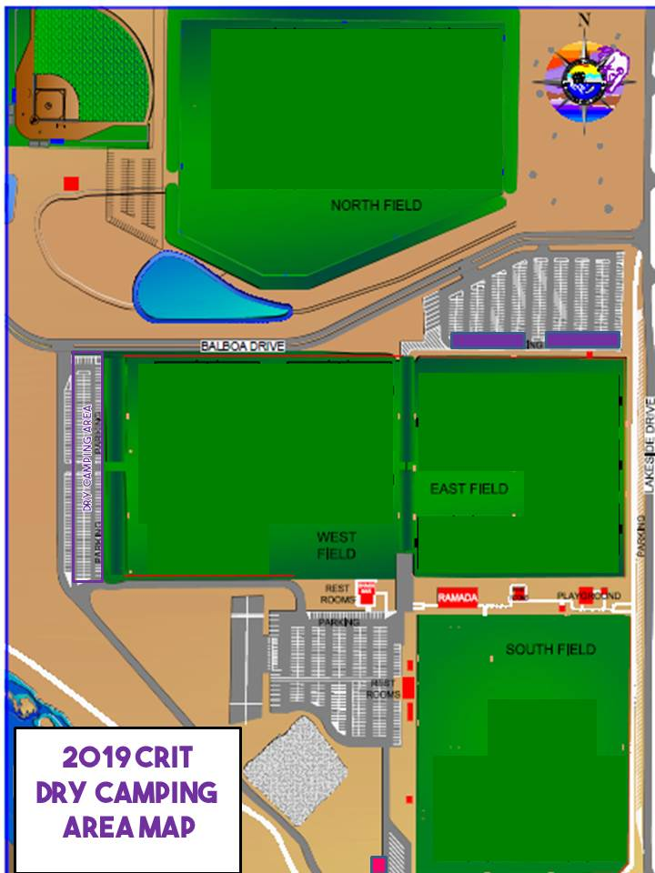 2019 CRIT DRY CAMPING LOCATION MAP