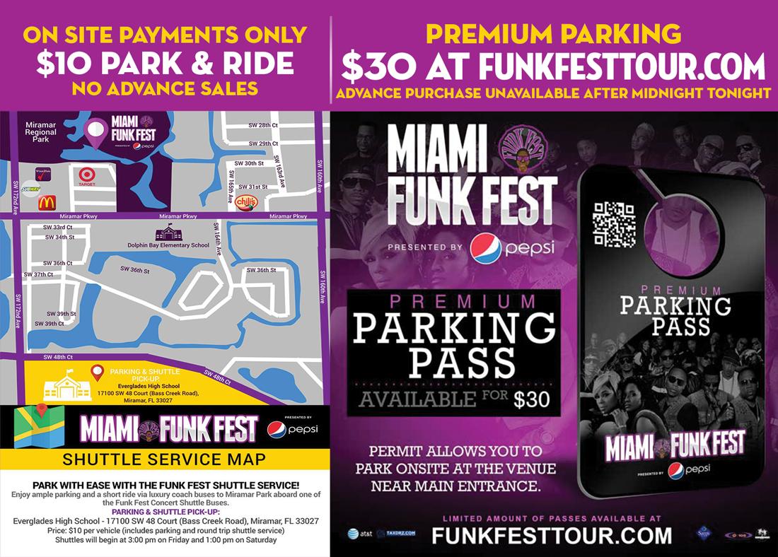 Funk Fest Miramar Park & Ride