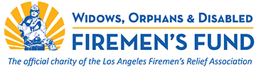 Logo for Widows, Orphans & Disabled Firemen's Fund, the official charity of the Los Angeles Firemen's Relief Association