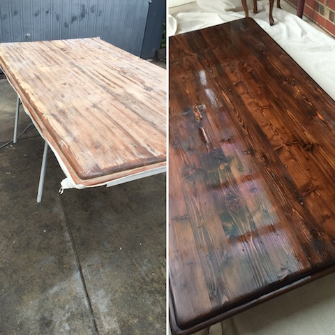 Recycled baltic tabletop restoration