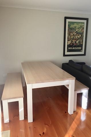 Tasmanian Oak Dining setting Bench seats