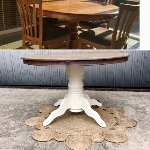 old table made new again