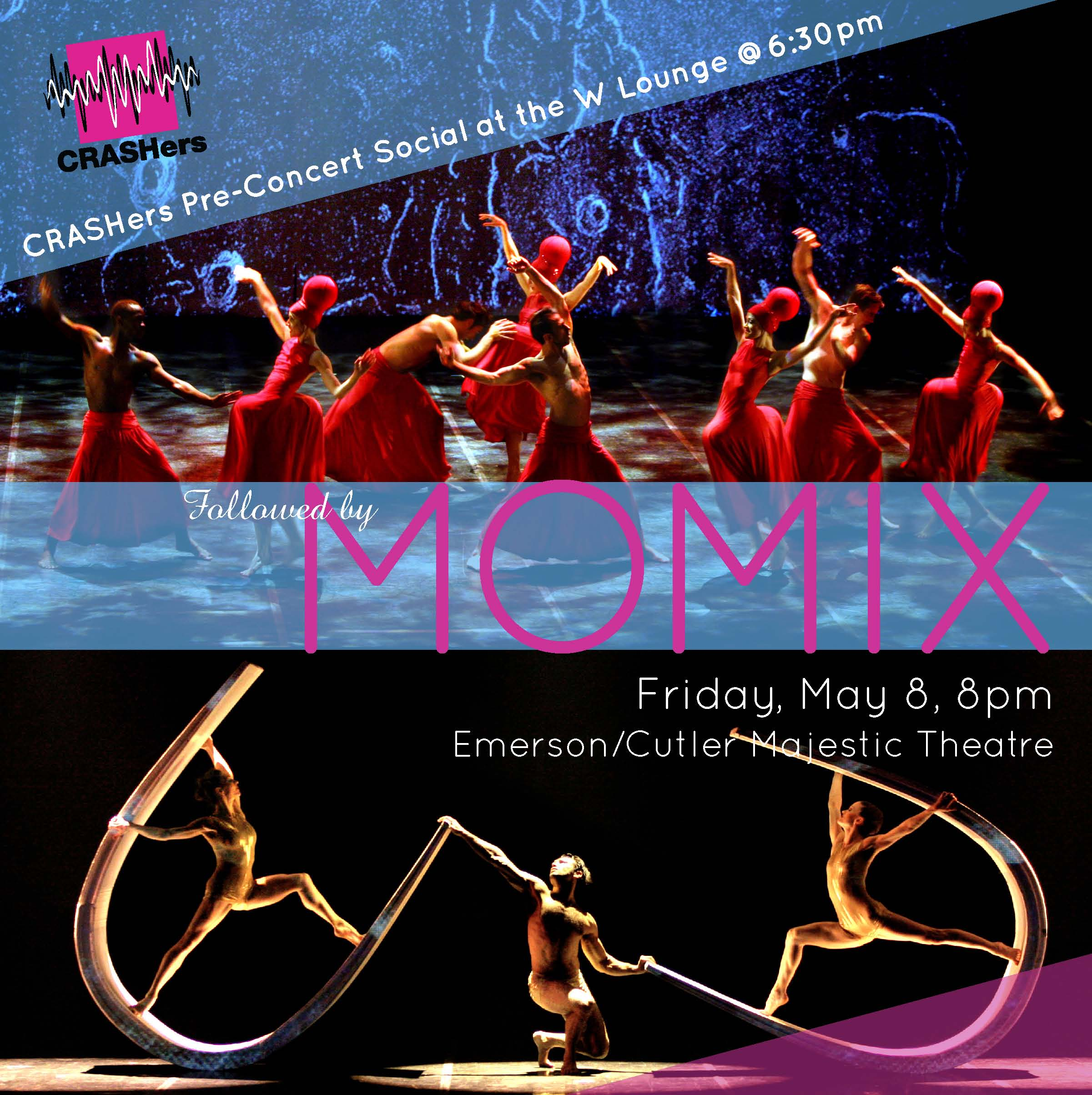 CRASHers Pre-Concert Social at W Lounge @ 6:30pm Followed by MOMIX