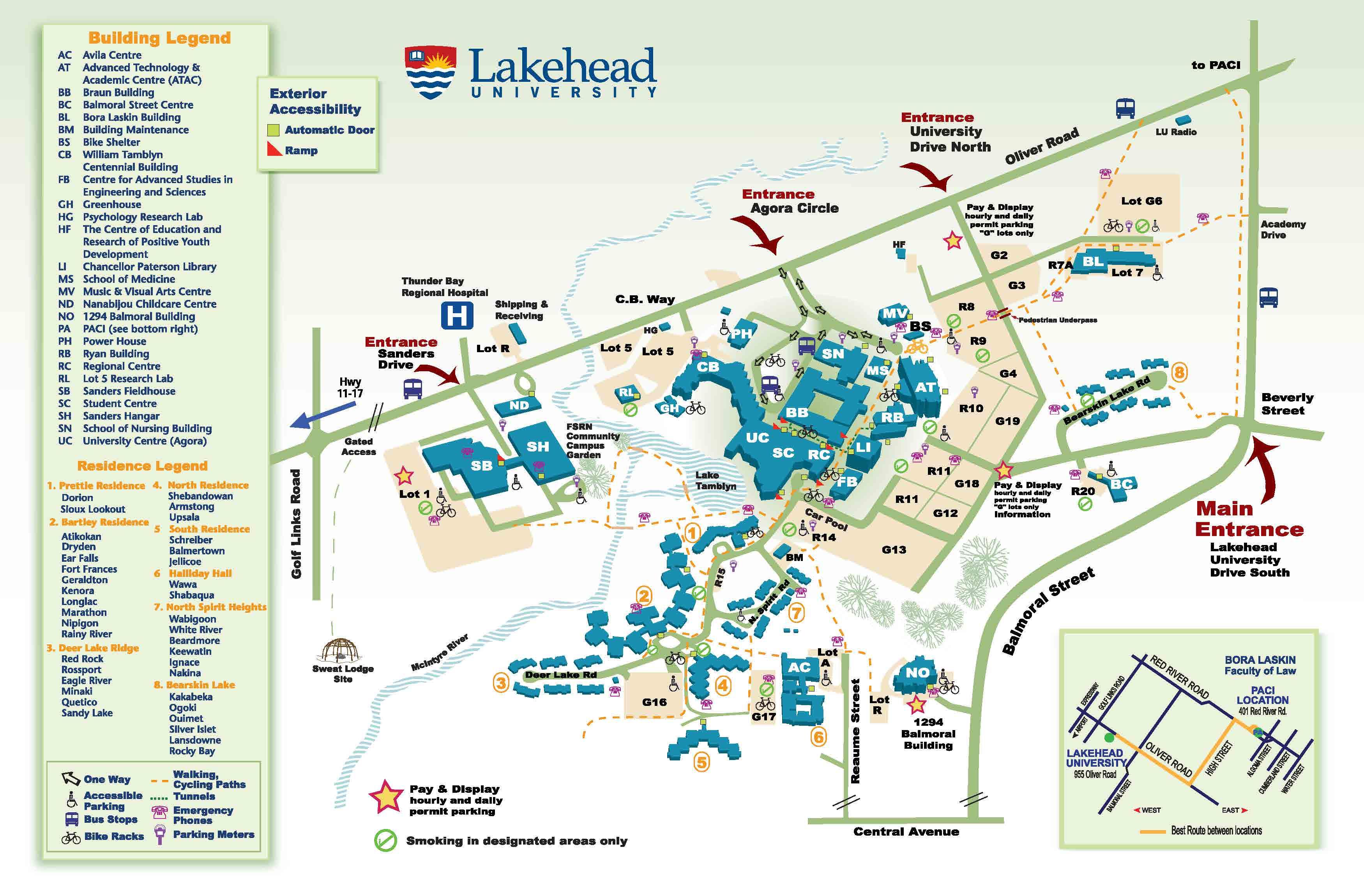 Lakehead University Campus Map