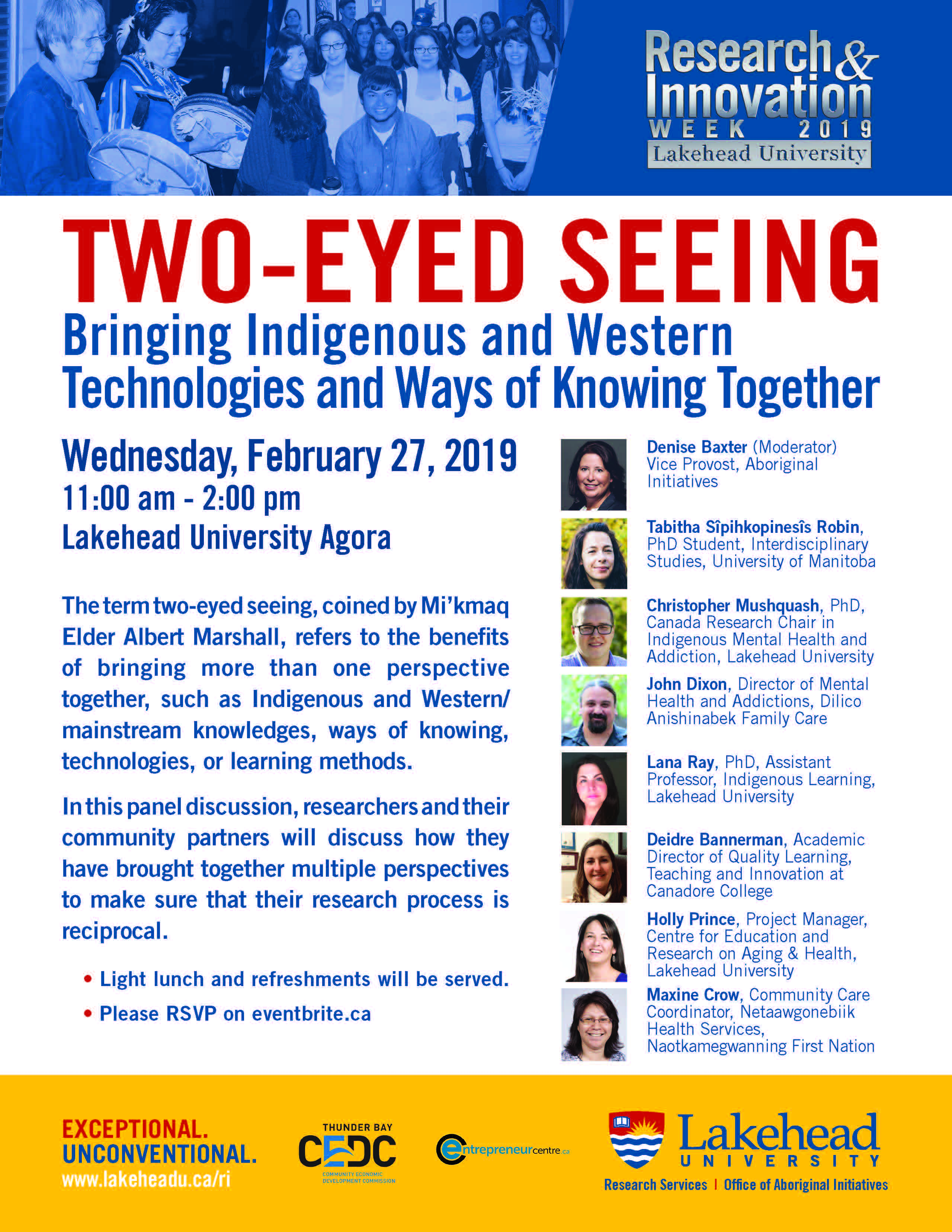 Two-Eyed Seeing Bringing Indigenous and Western Technologies and Ways of Knowing Together