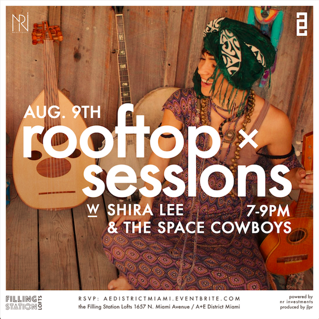 Shira Lee & the Space Cowboys at A+E District's Rooftop Sessions