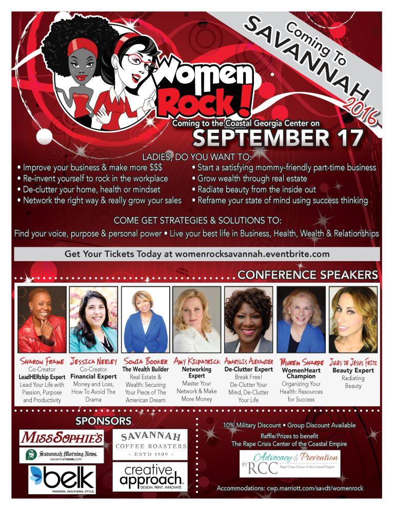 Women Rock Savannah 2016 Conference Flyer
