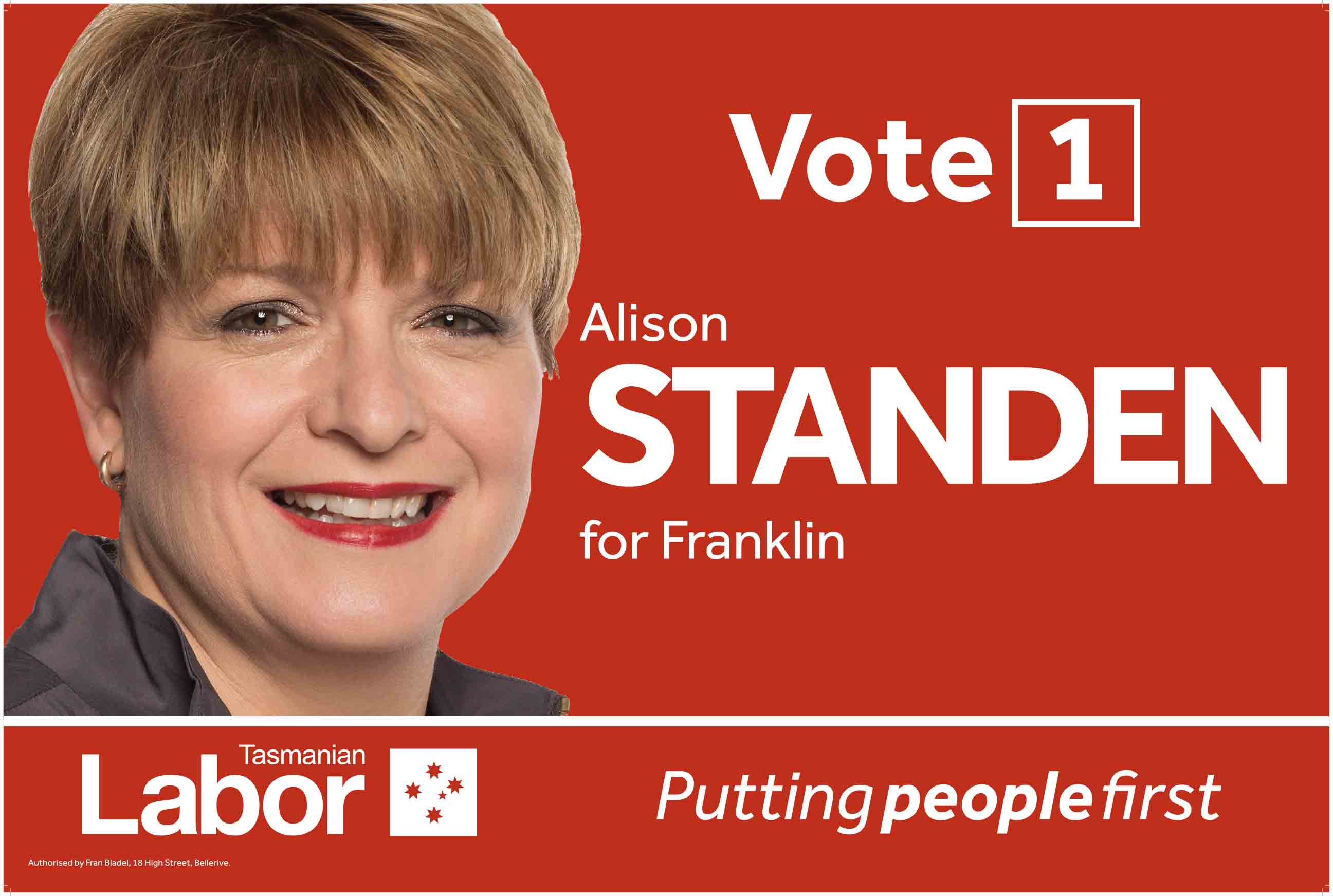 Vote 1 Poster for Alison Standen