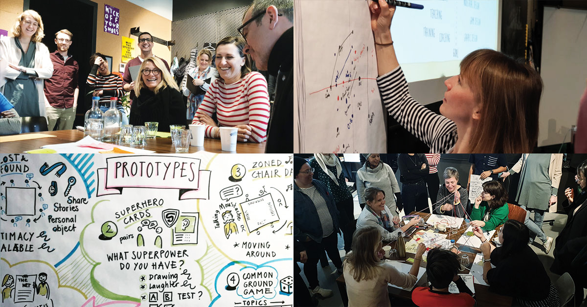Four images of the learning experience design masterclass