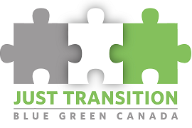 Blue Green Canada Just Transition logo