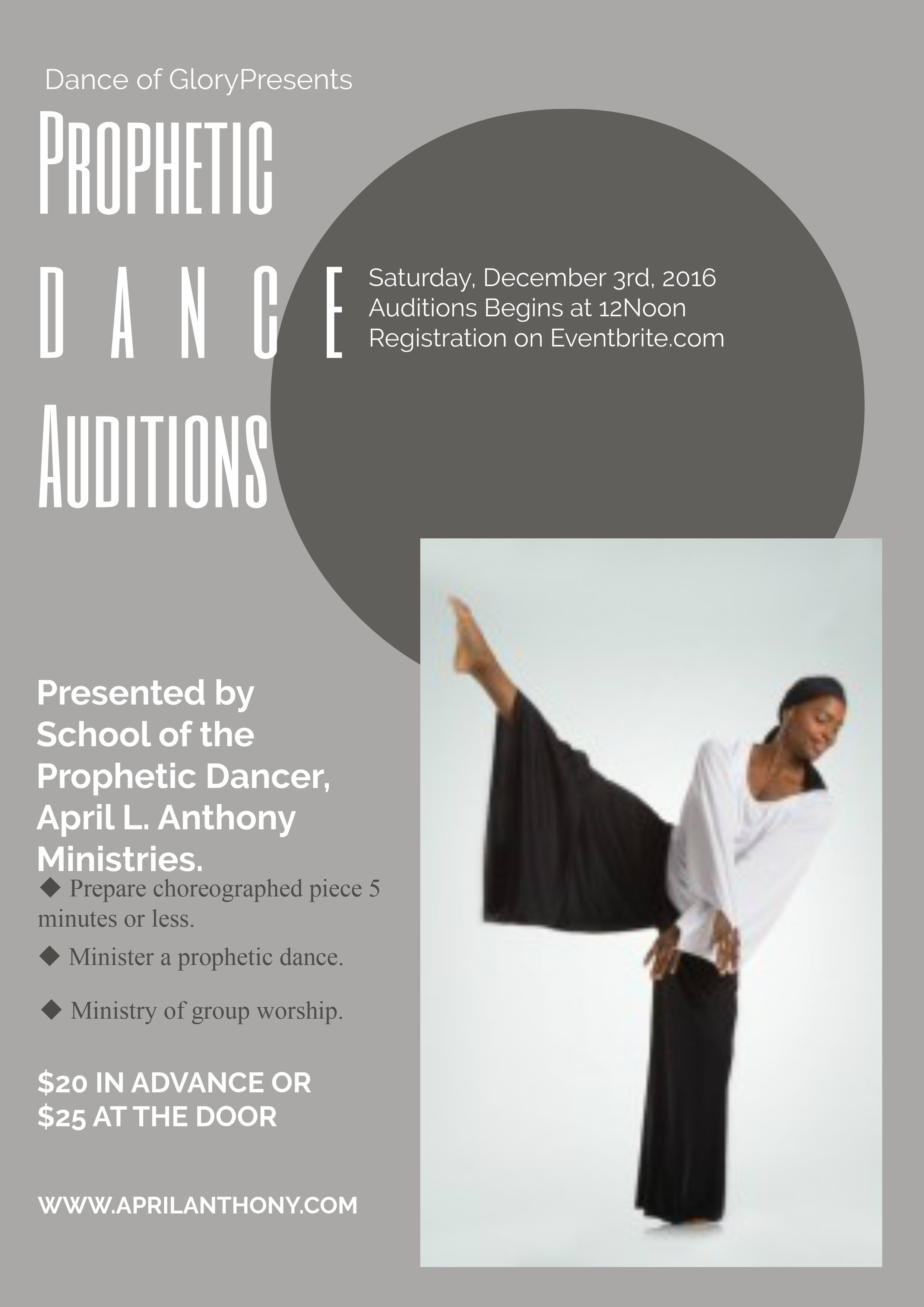Dance of Glory Dance Auditions