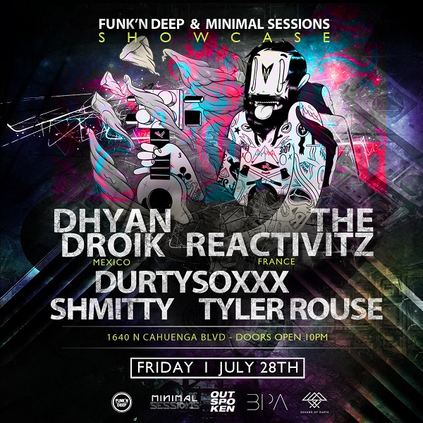 Minimal Sessions at Outspoken with Dhyan Droik + The Reactivitz