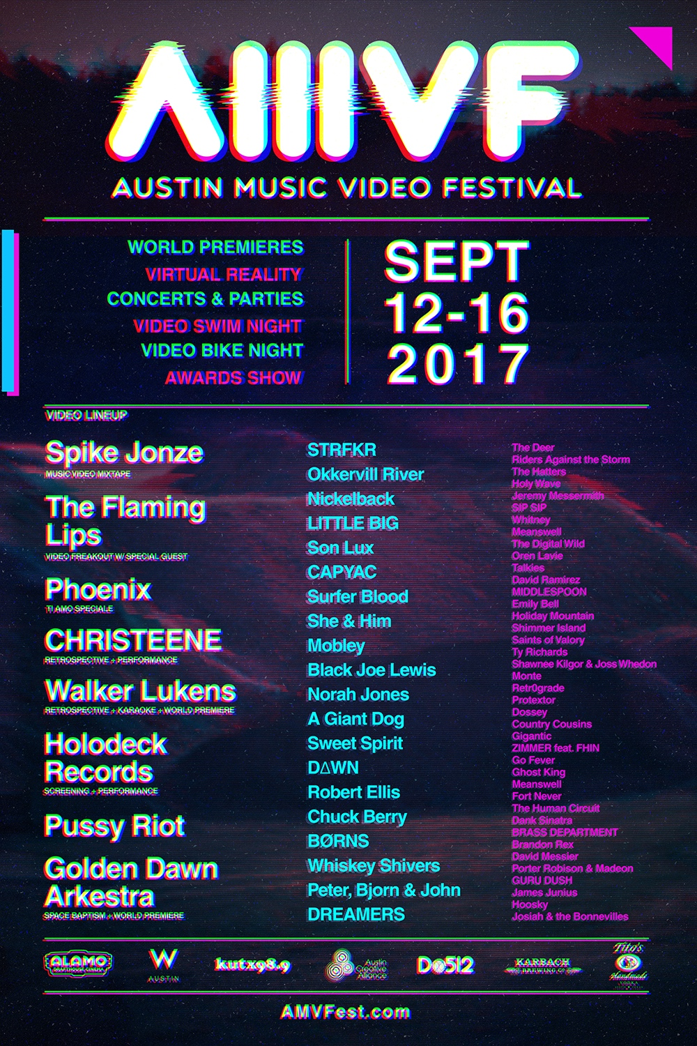 AMVF Full Video Lineup Poster