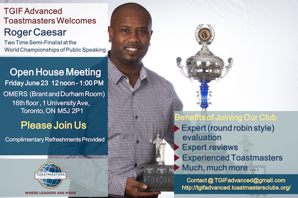 TGIF Advanced Toastmasters Open House