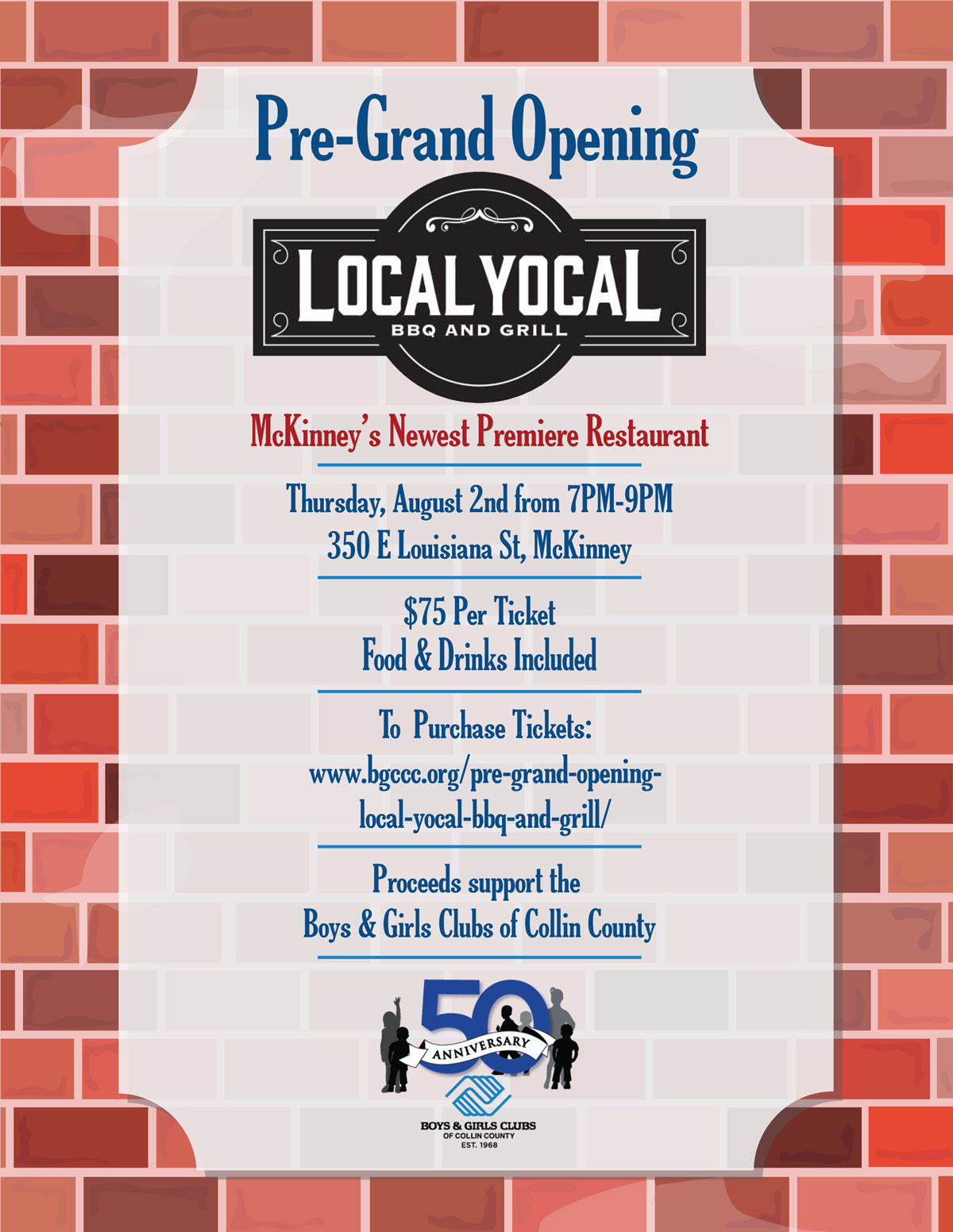 Local Yocal Fundraiser Night - Pre-Grand Opening