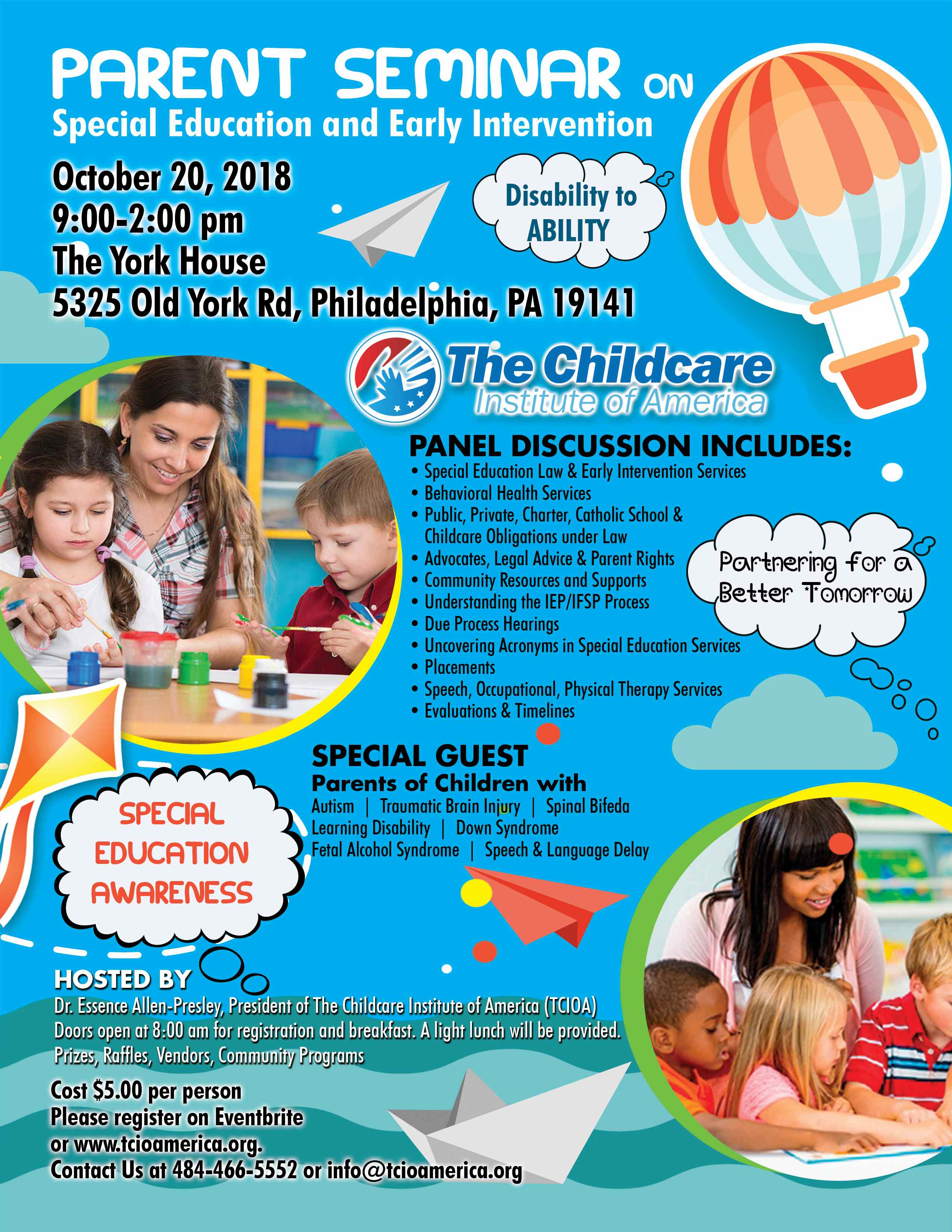 Parent Seminar on Early Intervention and Special Education