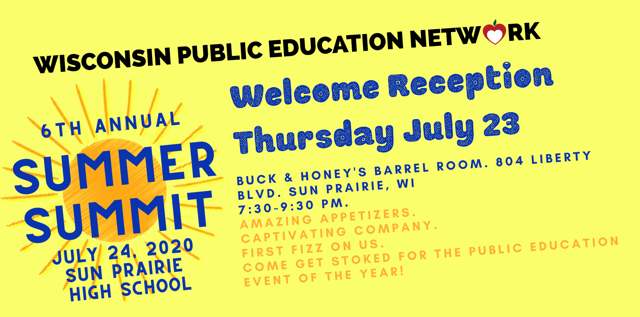 Join us Thurs. July 23 for the Welcome Reception!