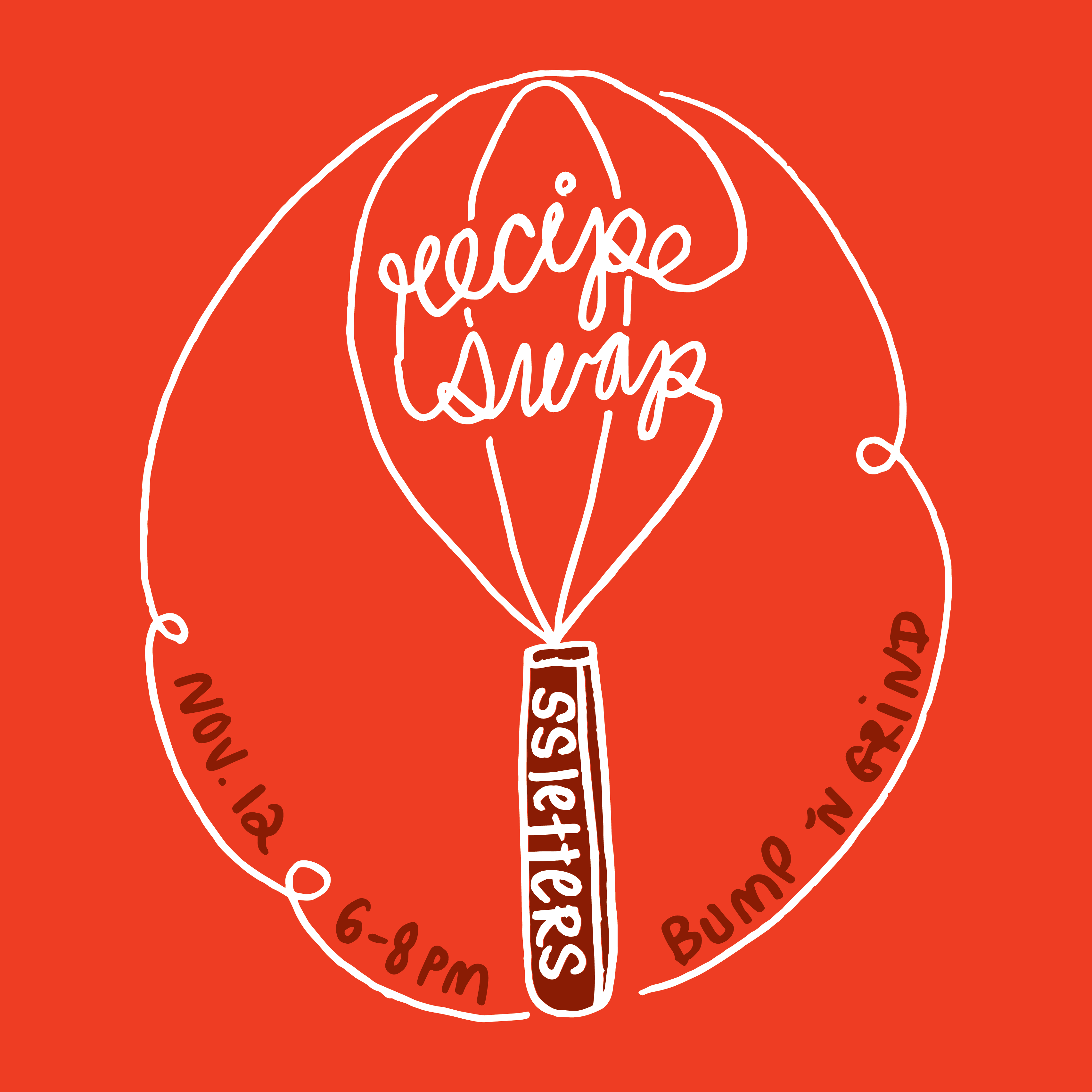 SSLetters Hand Lettering Doodle Session Recipe Swap Tickets
