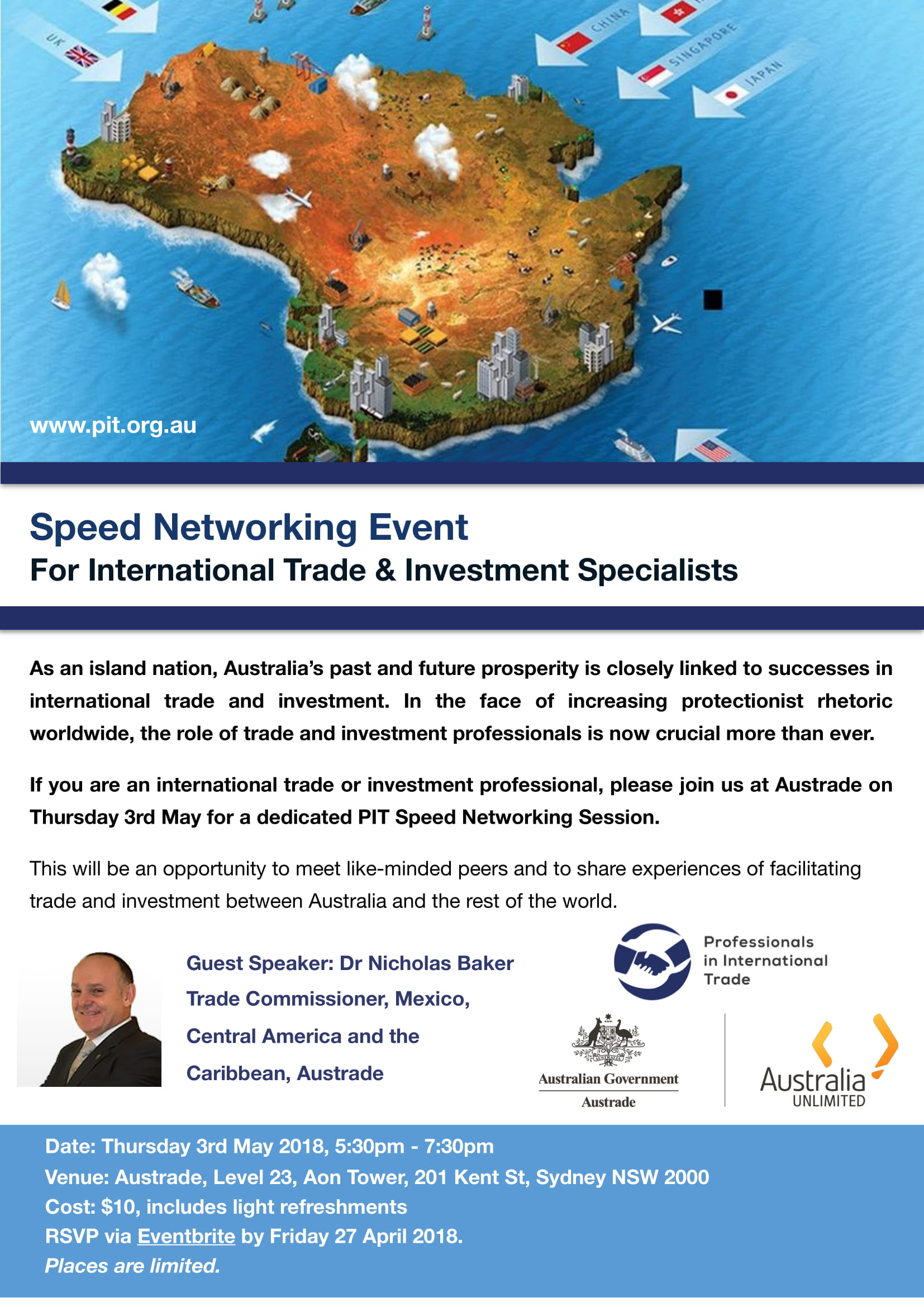 PIT Speed Networking Event - For International Trade & Investment Specialists